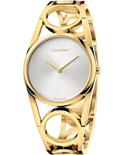 Calvin Klein Round Womens Quartz Watch K5U2M546