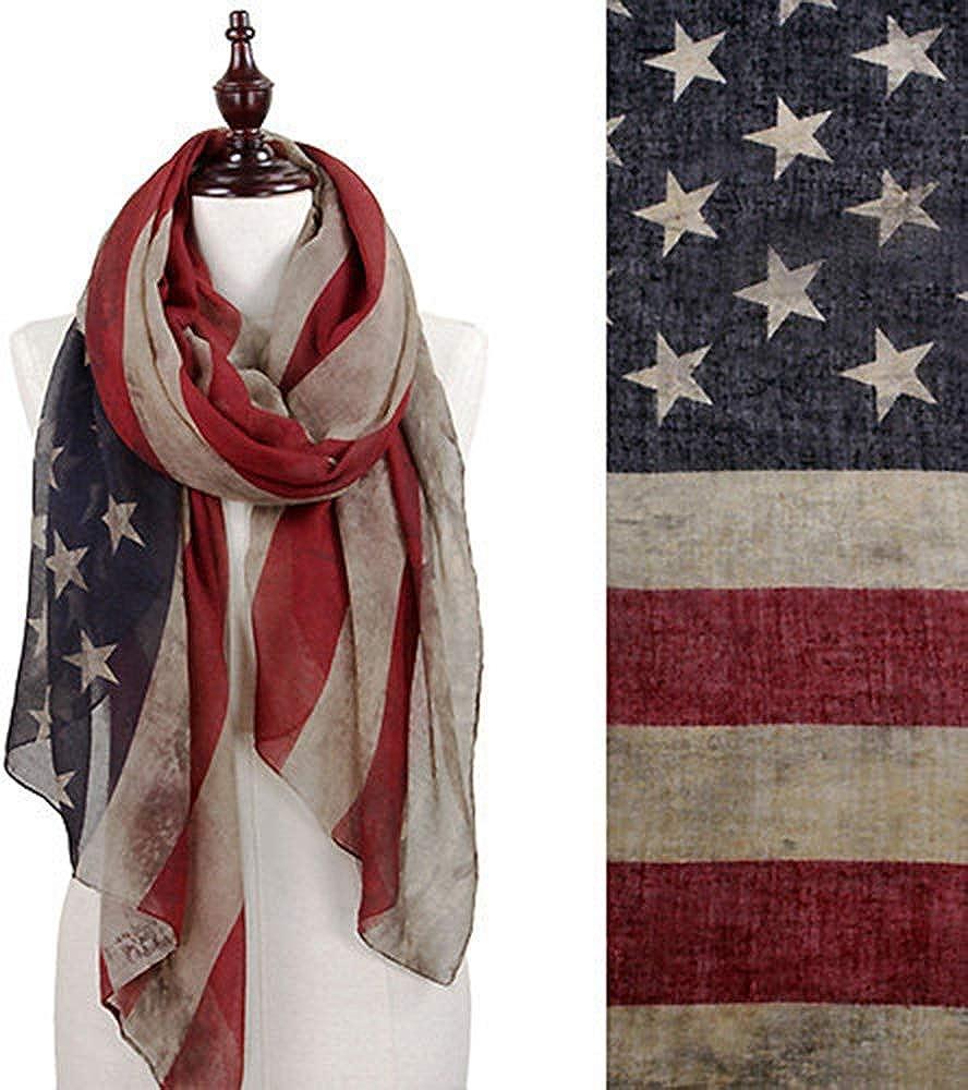Sciarpa Bandiera Americana di Moda Grande Scialle Delle Donne