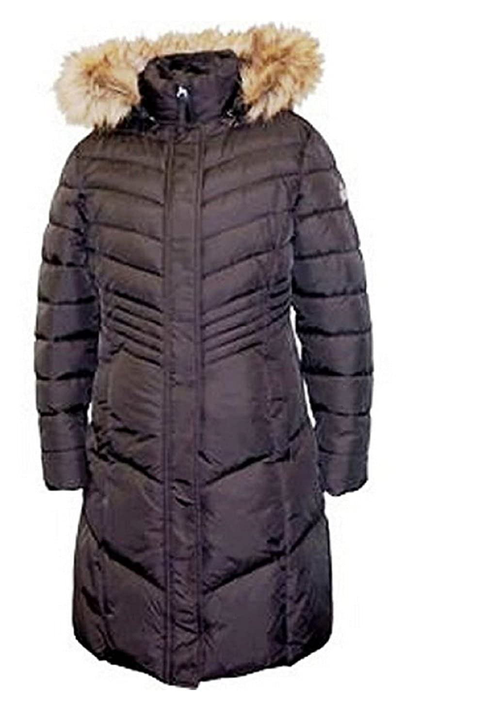 Weatherproof Long Parka with Removable Hood for Girls 8