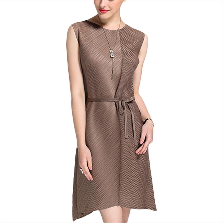 Beiläufiges Art und Weisekleid unregelmäßiges sleeveless Kleid - ganz Code