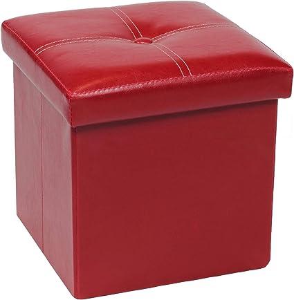Cube Storage Ottoman Footstool Foot Rest Stool Folding Storage Seat Box UK