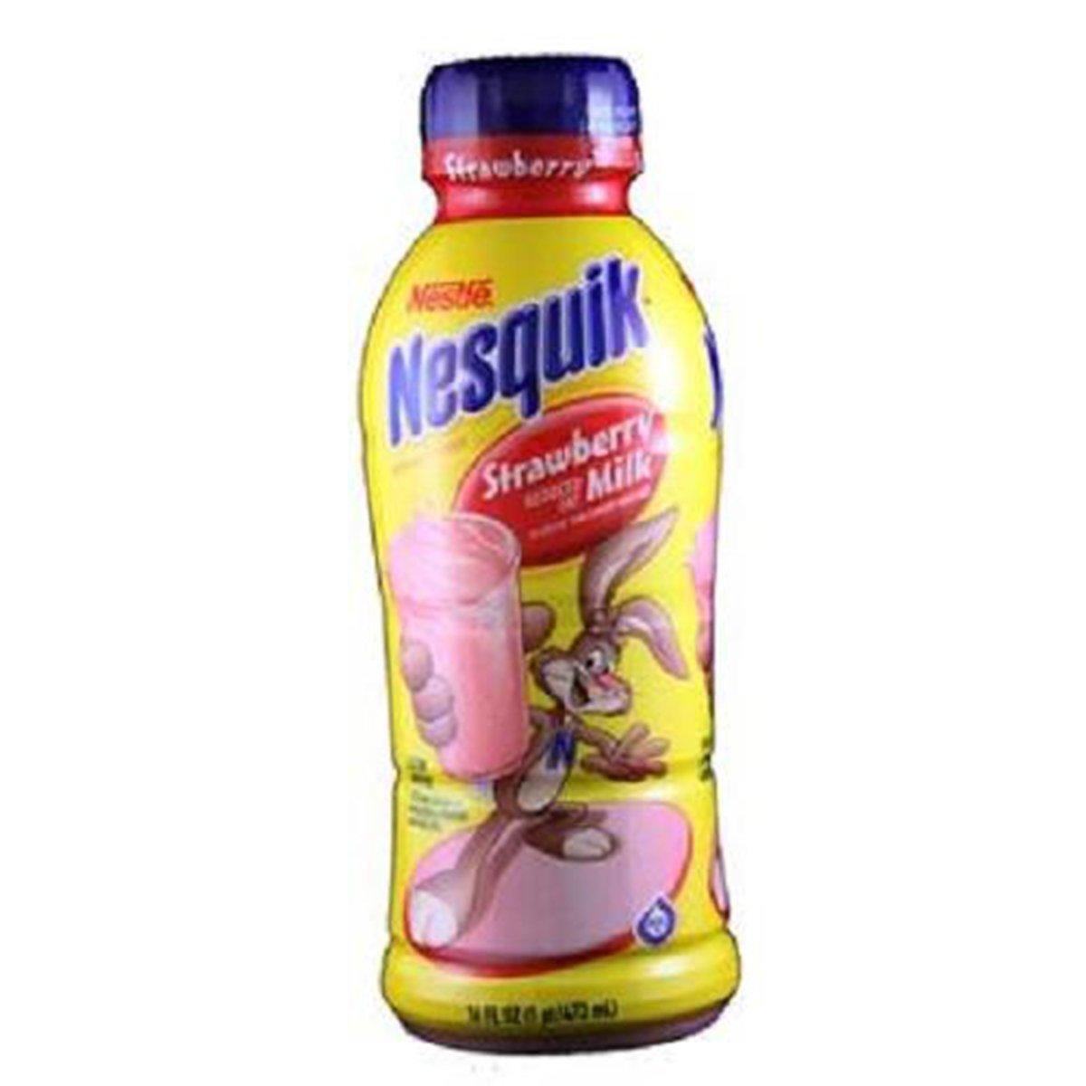 Product Of Nesquik, Low Fat Milk - Strawberry, Count 12 (14 oz) - Milk/Yogurt/Smoothie / Grab Varieties & Flavors