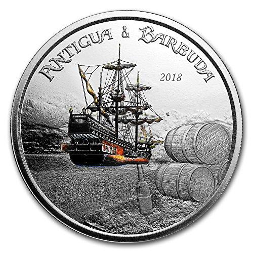 2018 Antigua & Barbuda 1 oz Silver Rum Runner Proof (Colorized) 1 OZ Brilliant Uncirculated