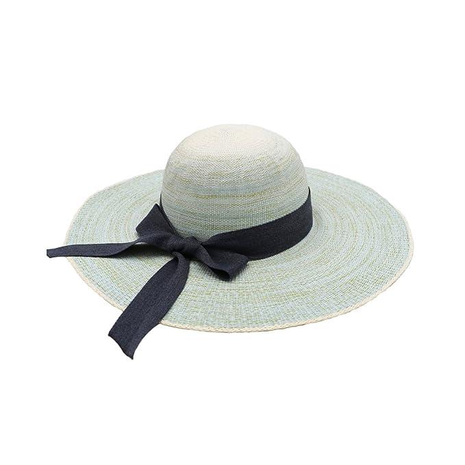 Sombreros de Paja Panamá Mujeres Niñas Cinta Bowknot Ala Ancha Al Aire  Libre Playa Primavera Verano Sombrero de Sol  Amazon.es  Ropa y accesorios 41721209ed4