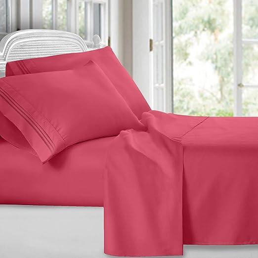 Queen Camel Gold 1800 Count 4 Piece Deep Pocket Soft Bed Sheet Set Clara Clark