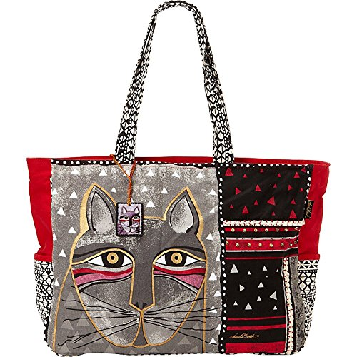 Laurel Burch Whiskered Cats Oversized Tote