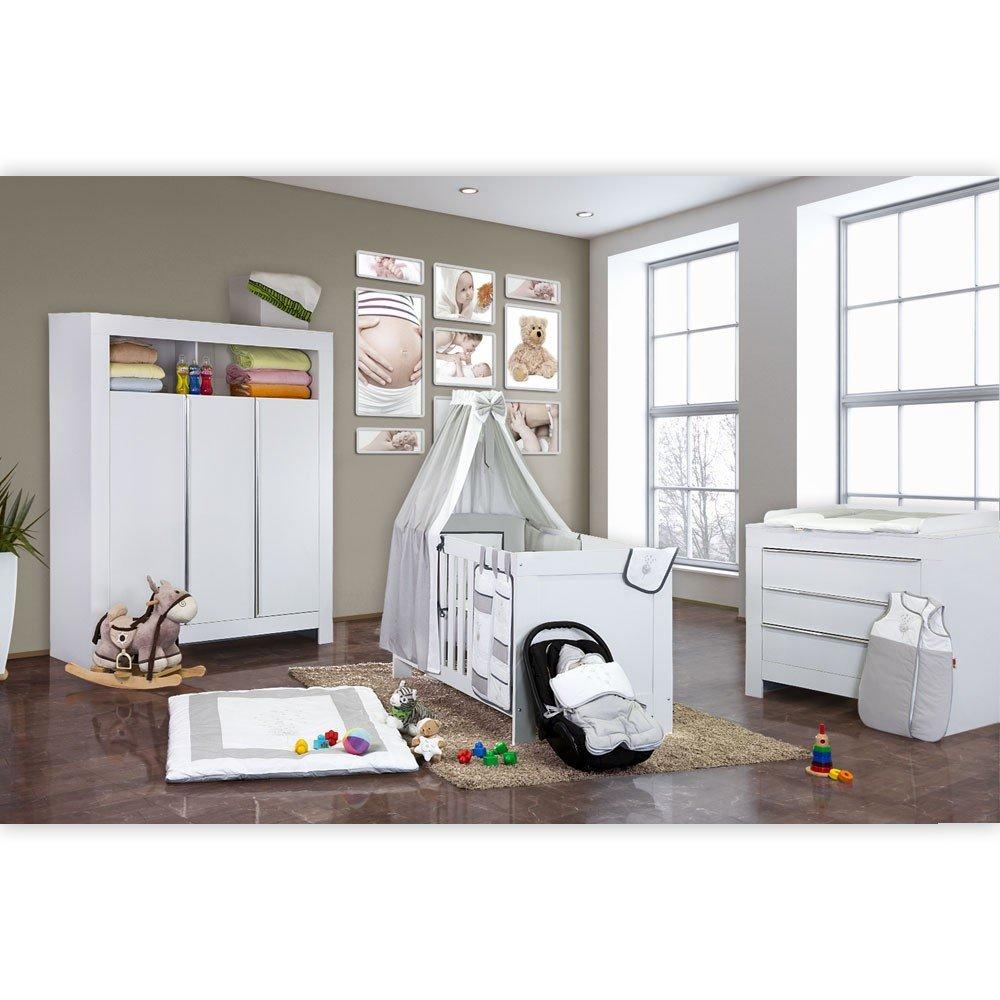 Babyzimmer Felix in weiss 19 tlg. mit 3 türigem Kl von Blossom in weiß