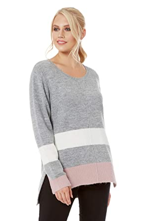 Roman Originals Ladies Rib Knitted High Neck Jumper