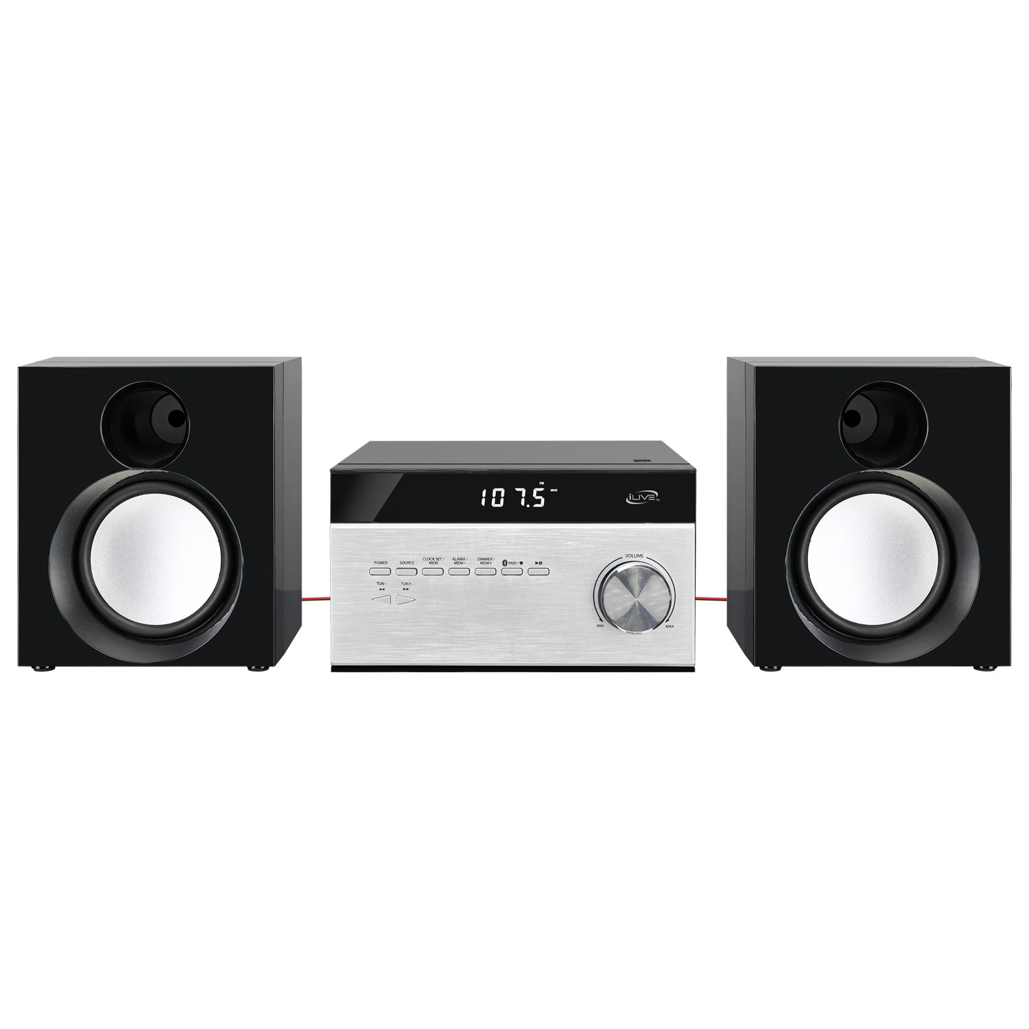iLive Wireless Home Stereo System, with CD Player and AM/FM Radio, Includes Remote Control (iHB227B) by iLive