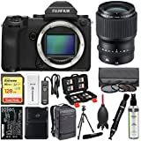 Fujifilm GFX 50S Medium Format Digital Camera Body with 110mm f/2.0 Lens + 128GB Card + Backpack + Battery & Charger + Tripod + Filters + Kit