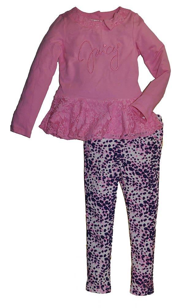 Juicy Couture Girls Girls' 2Pc Tunic & Legging Set, 3T, Pink