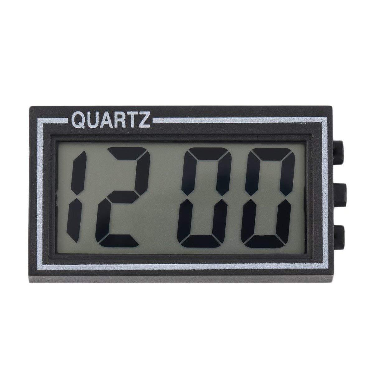 Corneliaa-UK Black Digital LCD Table Car Dashboard Desk Date Time Calendar Small Clock