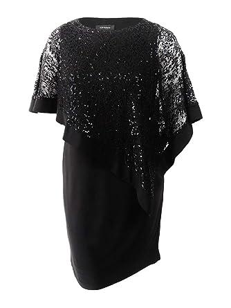 dfce11cd1e4 Amazon.com  R M Richards Women s Short Laced Poncho Dress Missy  Clothing