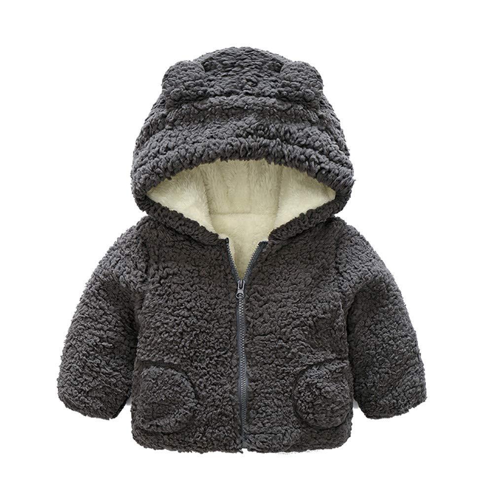 Joint Baby Coat, Toddler Infant Girls Boys Autumn Winter Warm Outwear Cute Bear Ears Hooded Coat Cloak Jacket