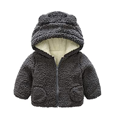 a0a0e093d Amazon.com  Tronet Infant Baby Autumn Winter Embroidery Hooded Coat ...