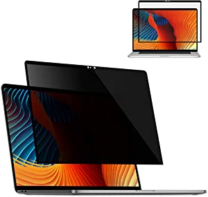 "Tuerdan Fully Removable Laptop Privacy Screen Filter for MacBook Pro 13-Inch (2016, 2017, 2018, 2019), MacBook Air 13"" (2018, 2020), Computer Privacy Anti-Glare Screen Filter, Ultra Clear Easy On/Off"
