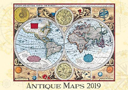 Antique Maps Calendar - Calendars 2018 - 2019 Wall Calendar - Photo Calendar - 12 Month Calendar by Helma