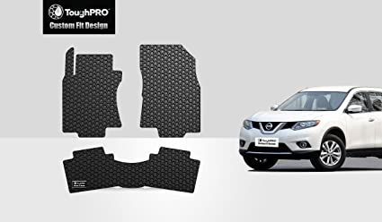 Wonderful ToughPRO Nissan Rogue Floor Mats Set   All Weather   Heavy Duty   Black  Rubber