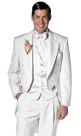349398fc3a1 XGSD Men's Notch-Lapel 3 Pieces Suits One Button Slim Fit Tailcoat Tuxedo  (Jackets