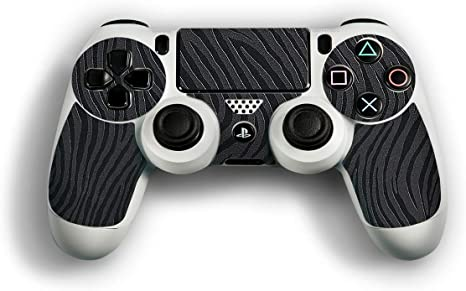 atFoliX Skin compatible con Sony Playstation 4 Controller PS4, Sticker Pegatina (FX-Wave-Black), Estructura de onda táctil: Amazon.es: Videojuegos