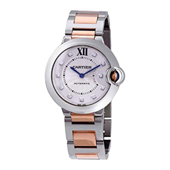 6822fe51a669 Image Unavailable. Image not available for. Color  Cartier Ballon Bleu  Automatic Ladies Two Tone Watch W3BB0018