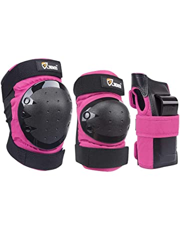 Amasawa Kids Protective Gear Set 6 in 1 Knee Elbow Wrist Protector Pads for Roller Skating Biking Sport Teens Toddler Child Pad Set