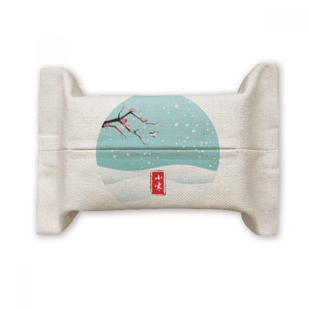 DIYthinker Circular Slight Cold Twenty Four Solar Term Cotton Linen Tissue Paper Cover Holder Storage Container Gift