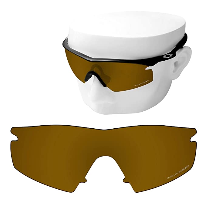 e14545aee5c OOWLIT Replacement Sunglass Lenses for Oakley M Frame Strike Peach Gold  Combine8 Polarized