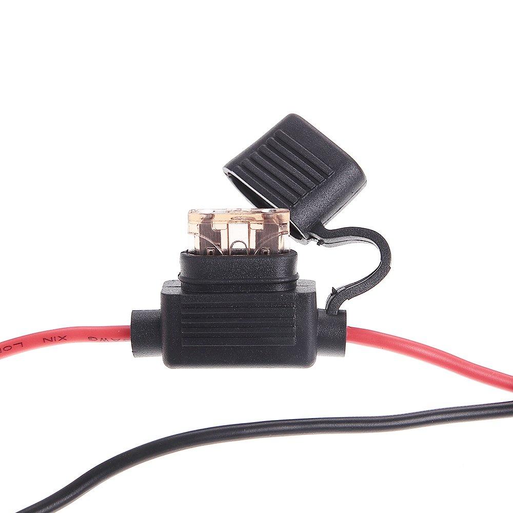 Led Light Bar Wiring Harness Kit Boat Rzr Ranger Atv Fuse Relay Switch 12v 40a