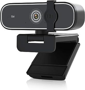 BNT 5MP/1080P HD USB Streaming Computer Webcam