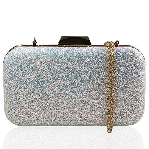 Clutches Women Prom JO White Envelope Bags Sequin Beaded Wedding Purses Colorful Handbag amp;FO Evening qEqn6A