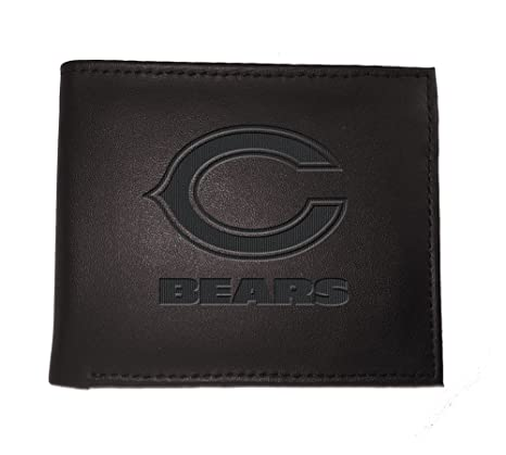 a616c1c493e648 Image Unavailable. Image not available for. Color: Team Sports America NFL  Chicago Bears Bi-Fold Wallet, Black