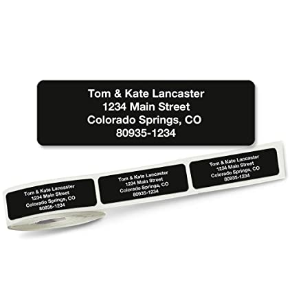 amazon com solid black rolled address labels roll of 250 office