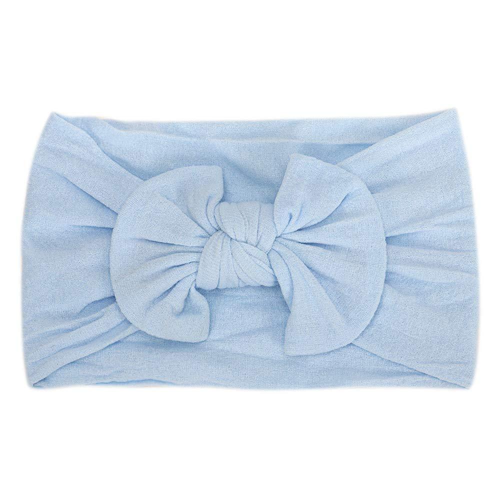 ❤️ Mealeaf ❤️ 1Pc Cute Baby Toddler Infant Bowknot Headband Hairband Headwear(Blue,)
