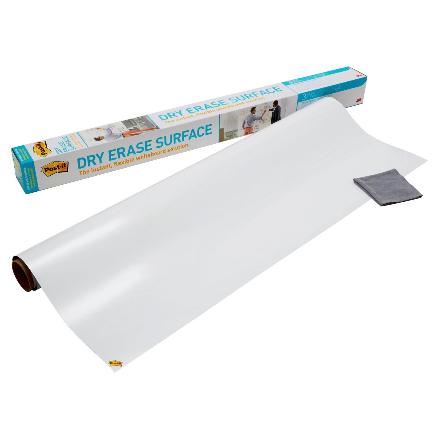 Amazon Com Post It Dry Erase Surface 4 Ft X 3 Ft Great For Tables Desks And Other Surfaces Discontinued By Manufacturer Office Products