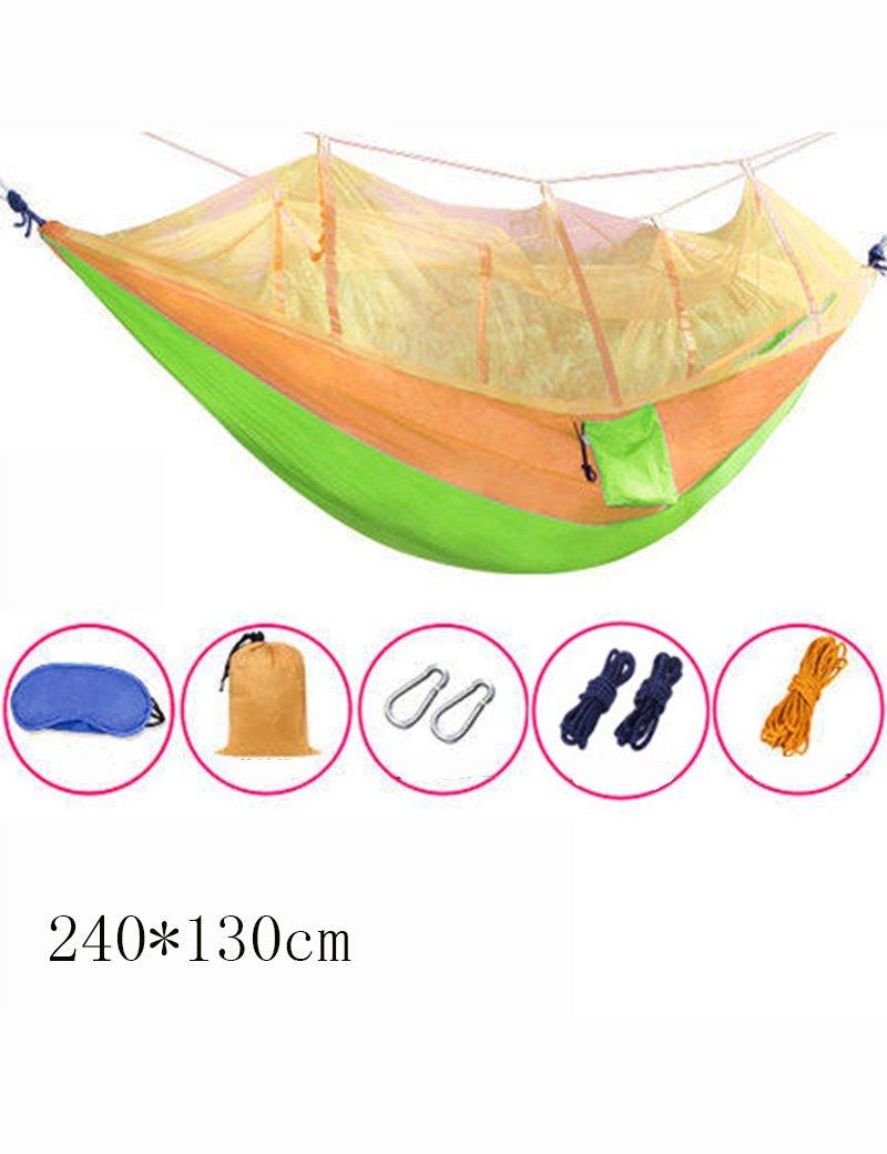 Hängematte Outdoor Freizeit Moskitonetzen Parachute Tuch Ultraleicht im Freien Innen- Swing Kletterei Freizeit Ultralight Bequeme