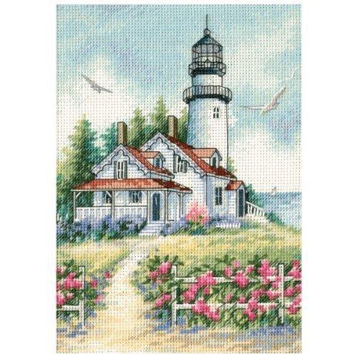 Dimensions Gold Collection Petite Scenic Lighthouse Cntd Cross Stitc (Kit Cntd Cross Stitch)