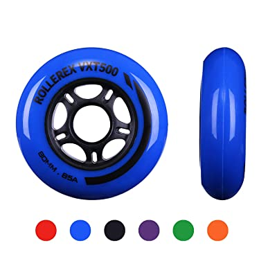 Rollerex VXT500 Inline Skate Wheels (2-Pack) (Deep Sea Blue) : Sports & Outdoors