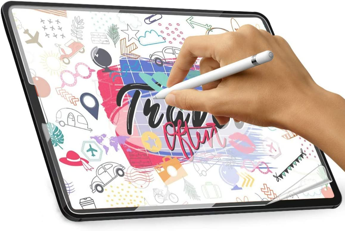 Paper-Feel Screen Protector for iPad Pro 11 2020 & 2018,Supports Apple Pencil, Write & Draw Like on Paper, Anti-Glare Matte PET Film (Not Glass) for iPad Pro 11 Inch