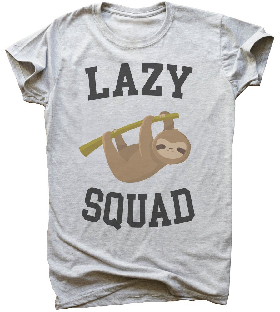 Lazy Squad Cute Sloth Hanging On A Branch Men'S T-Shirt -