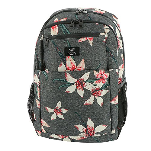 Roxy Junior's Here You are Backpack, Charcoal Heather Flower Field, One Size