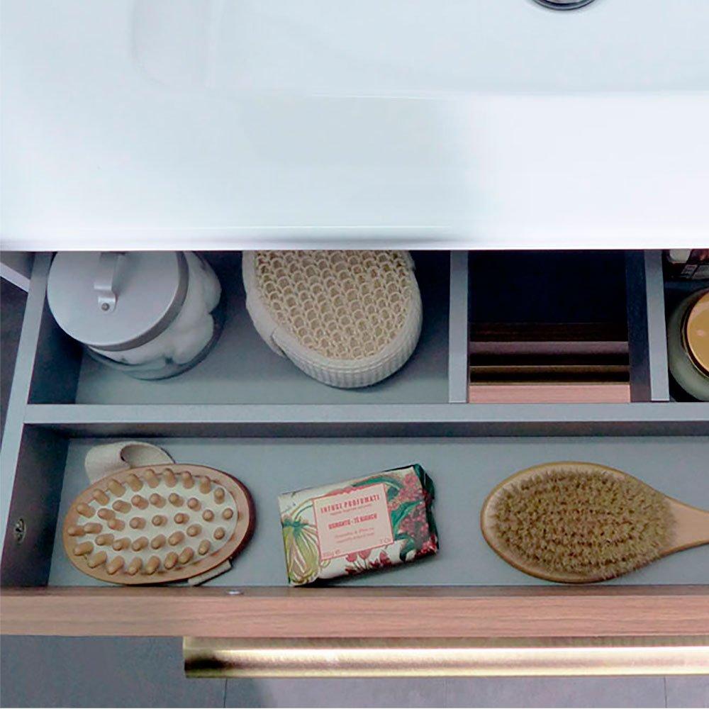 Randalco 24'' Maine Modern Bathroom Vanity Cabinet Set | 24 x 24 x 18 Inch Vanity Cabinet + Ceramic Top + Mirror | Cognac Wood Looking Finish by Randalco (Image #4)