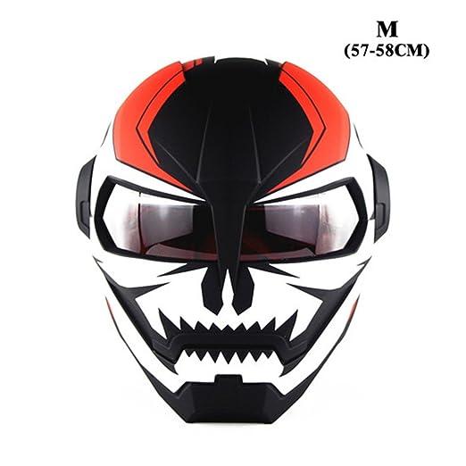 GOOENNSA Casco de Moto Personalizado para Bicicleta de Cara Completa Casco de Motocross Retro Ciclismo Desmontable Casco de Ciclismo, Hombre Mujer Infantil, ...