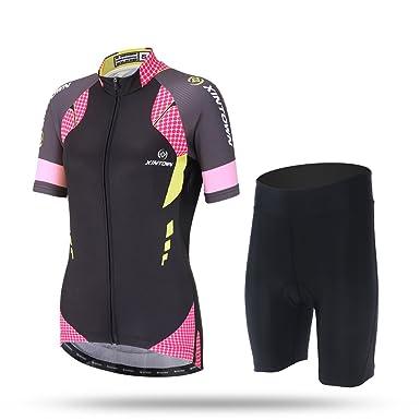 97cdae7dd LSERVER Women Fashion Shortsleeve Cycling Jersey Summer MTB Bike Racing Top  Suit  Amazon.co.uk  Clothing