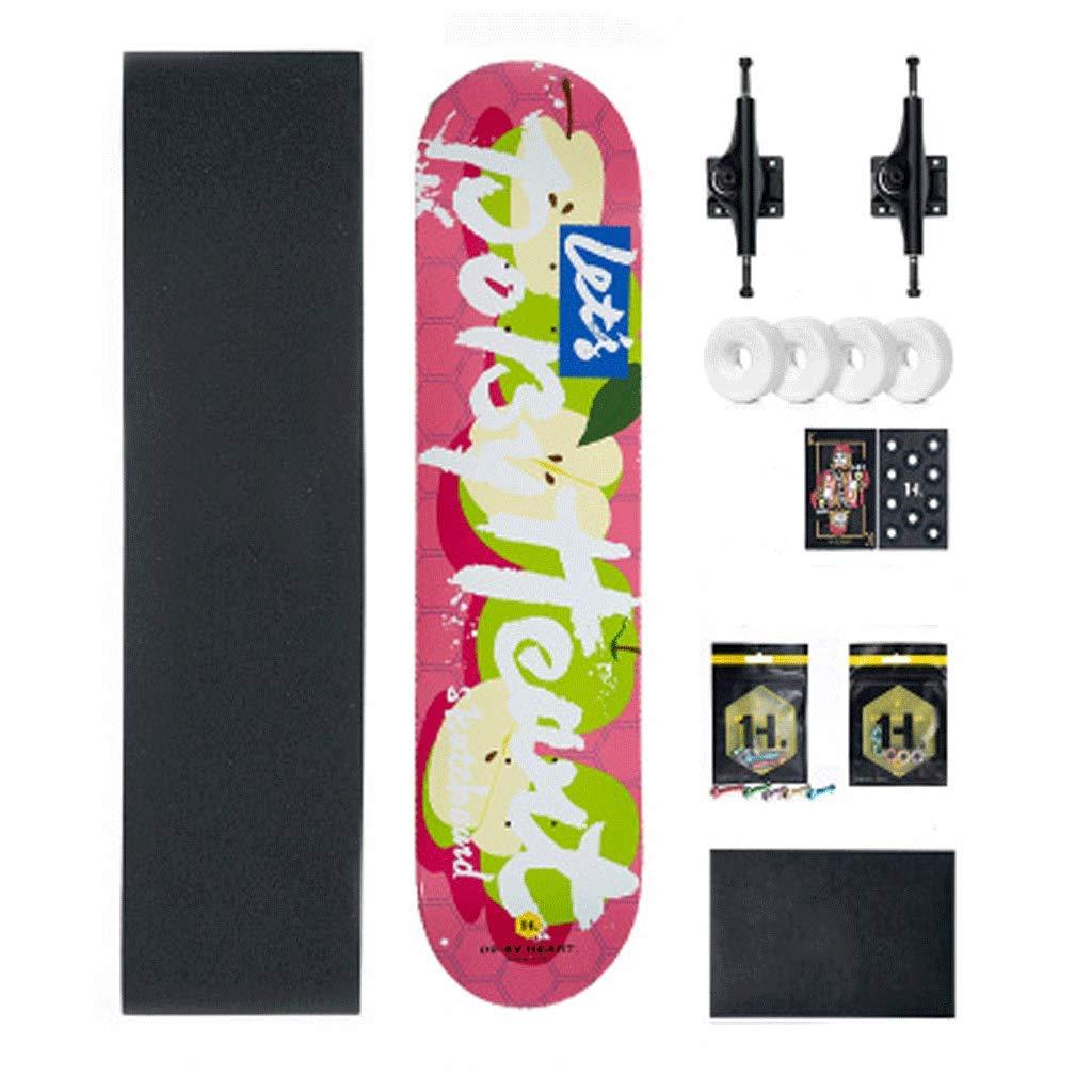 【お取り寄せ】 バイラテラル傾斜ボードプロフェッショナル四輪スケートボード初心者大人のティーンの子供男の子と女の子のストリート apple (色 : Green Green (色 apple) B07KYKWVM6 Green apple, ゲオモバイル:7abcb5f9 --- a0267596.xsph.ru