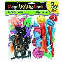 "Amscan Hight Quality Party Mega Value Pack Fuente de fiesta, surtido, 9 1/2 ""x 12 1/4"", 48ct"
