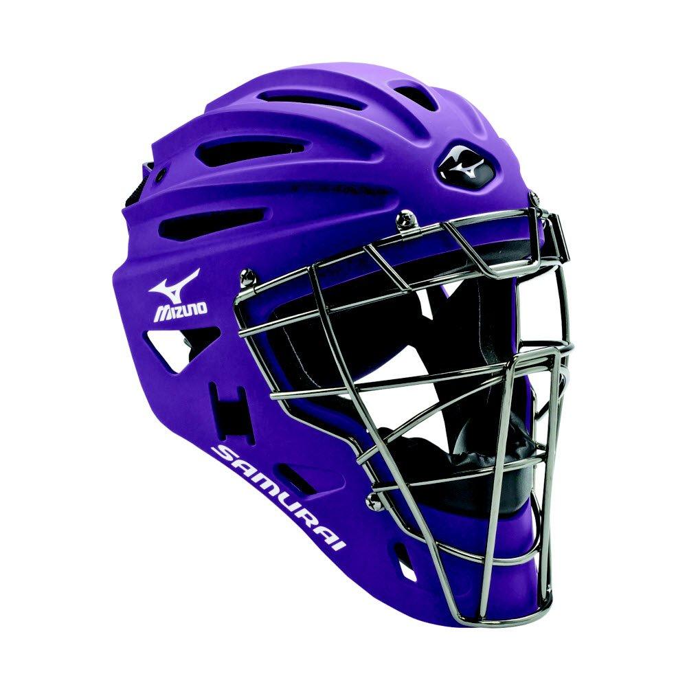 Mizuno Youth G4 Samurai Catcher's Helmet, Purple by Mizuno