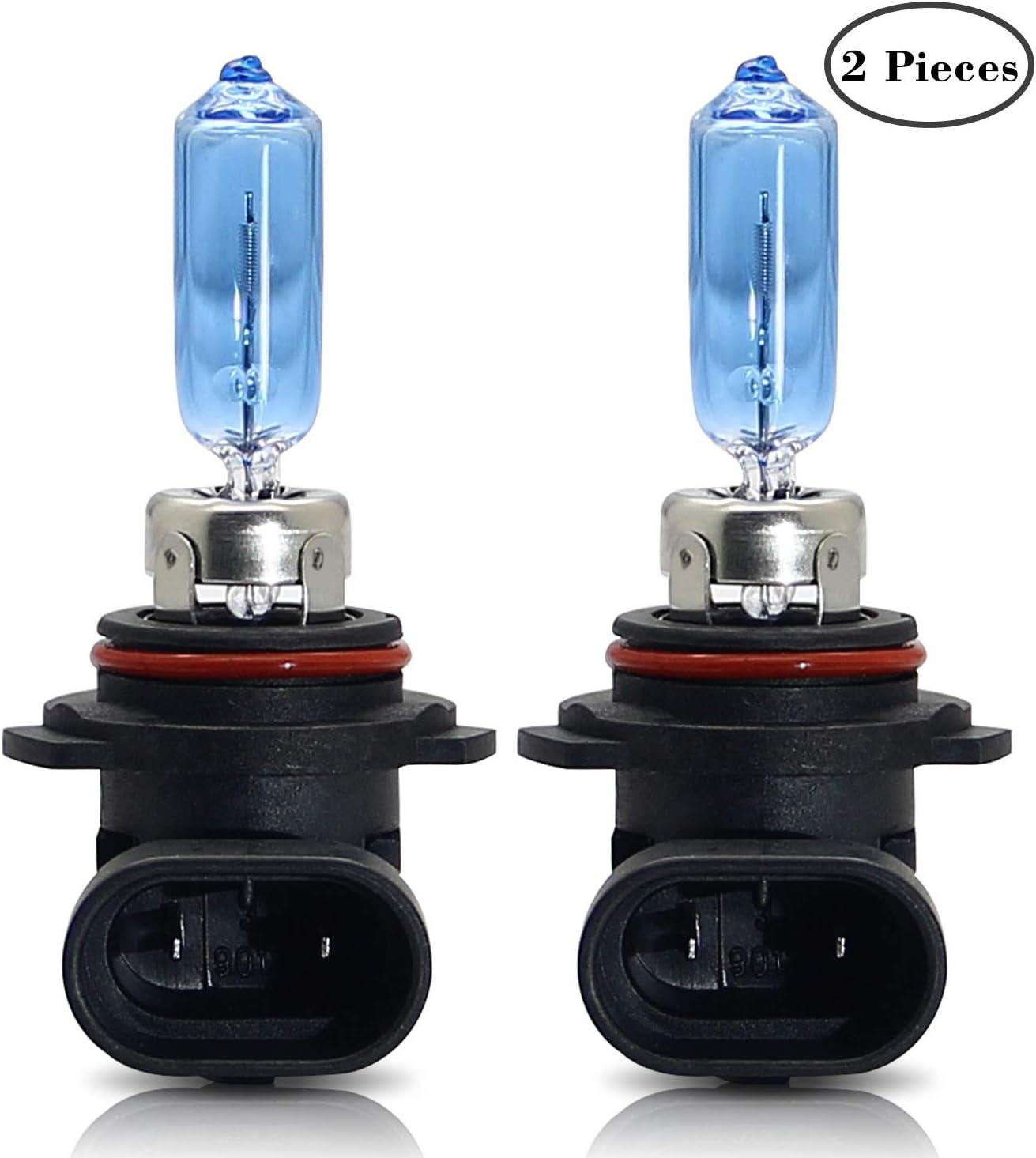 Dzg Hir2 9012 Halogenlampen 12v 100w Scheinwerferlampen 5000k Warmweiß Nebelleuchte Drl Birne 2 Stücke Auto