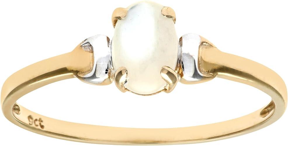 Citerna Anillo para Mujer de Oro con Perla