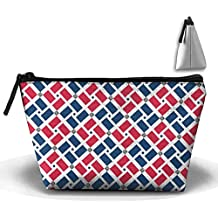 Dominican Republic Flag Weave Pencil Case Stationery Bag Cosmetic Bag Cosmetic Bag Storage Bag